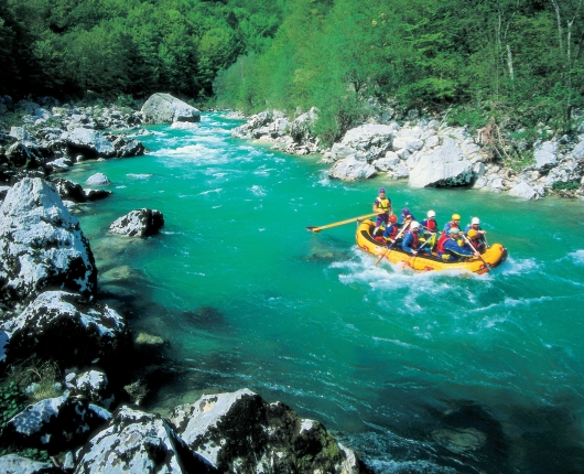 Rafting in Slowenien
